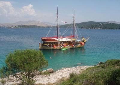 Historická jachta Silva