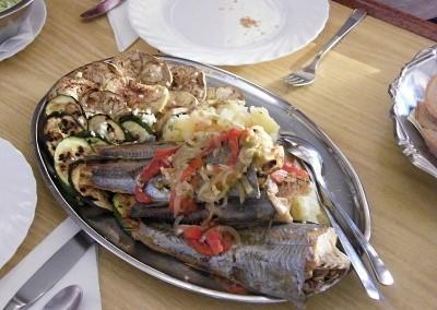 Jídlo na jachtě Silva